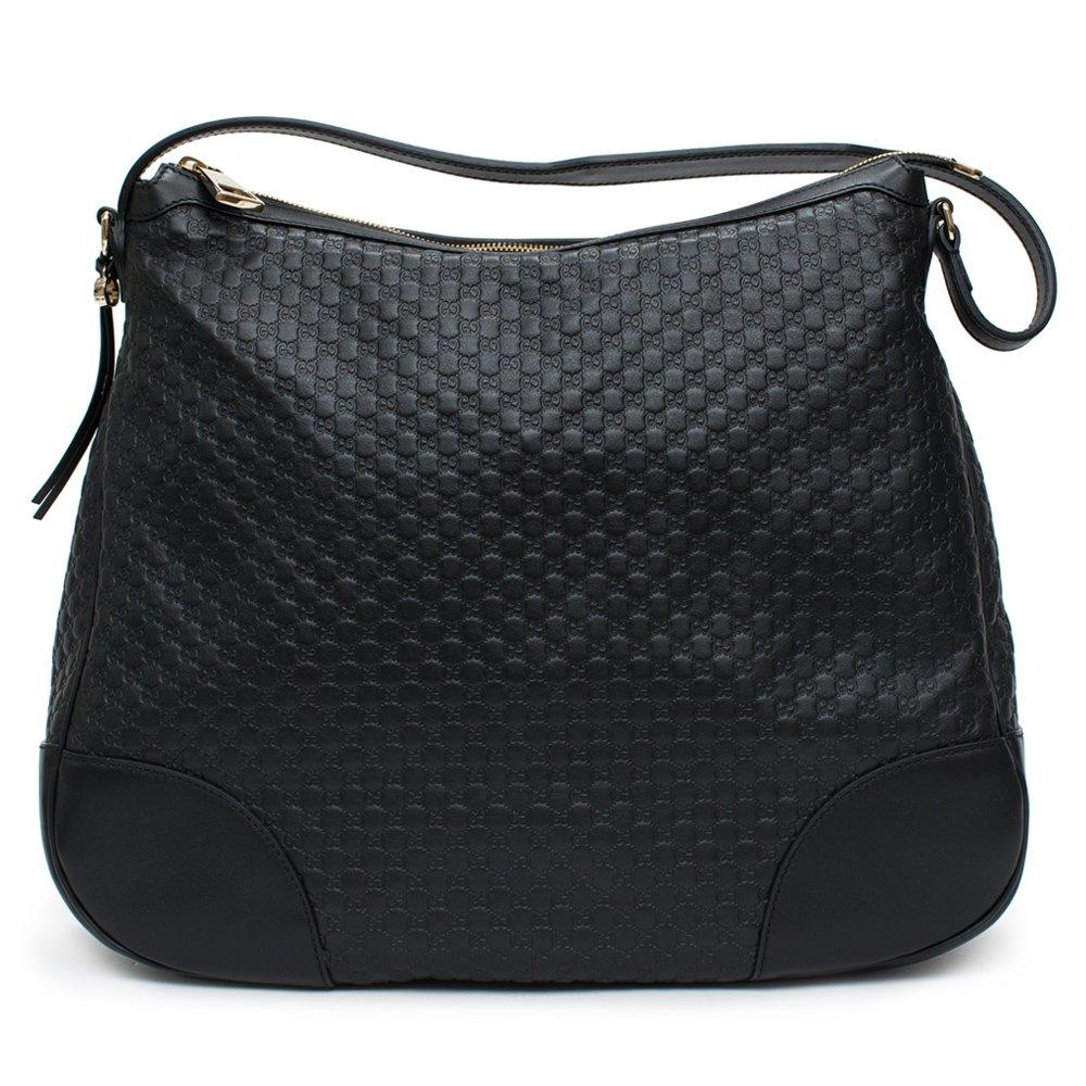 3c333da840e Amazon.com  Gucci Bree Guccissima Leather Hobo Bag Black New  Shoes