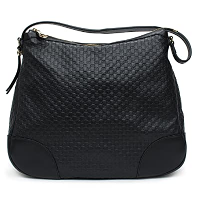 d3e04b2c435 Amazon.com  Gucci Bree Guccissima Leather Hobo Bag Black New  Shoes