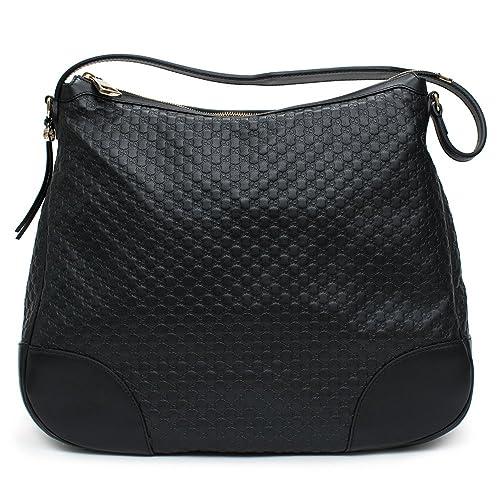 677c4fe74a4 Gucci Bree Guccissima shoulder bag Black Leather Handbag  Amazon.ca  Shoes    Handbags