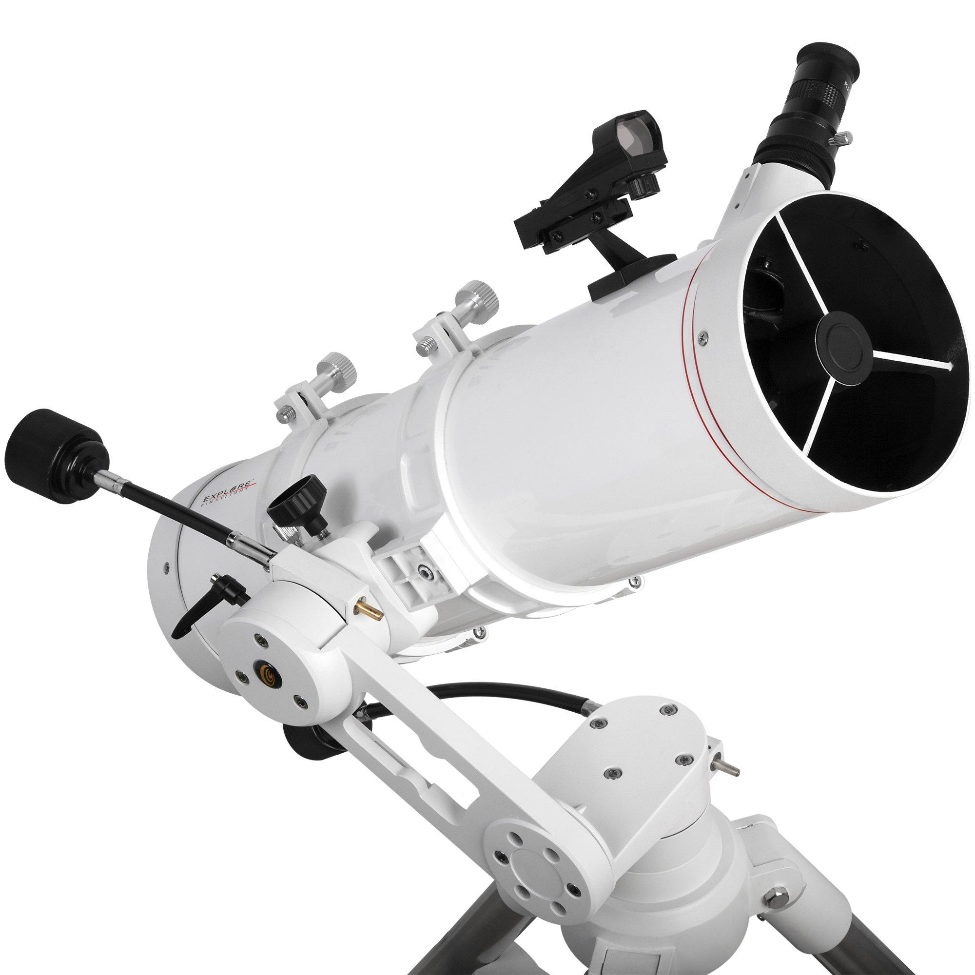 Explore Scientific FL-N130600MAZ01 Newtonian Telescope with TWI 1, 130mm, White by Explore Scientific
