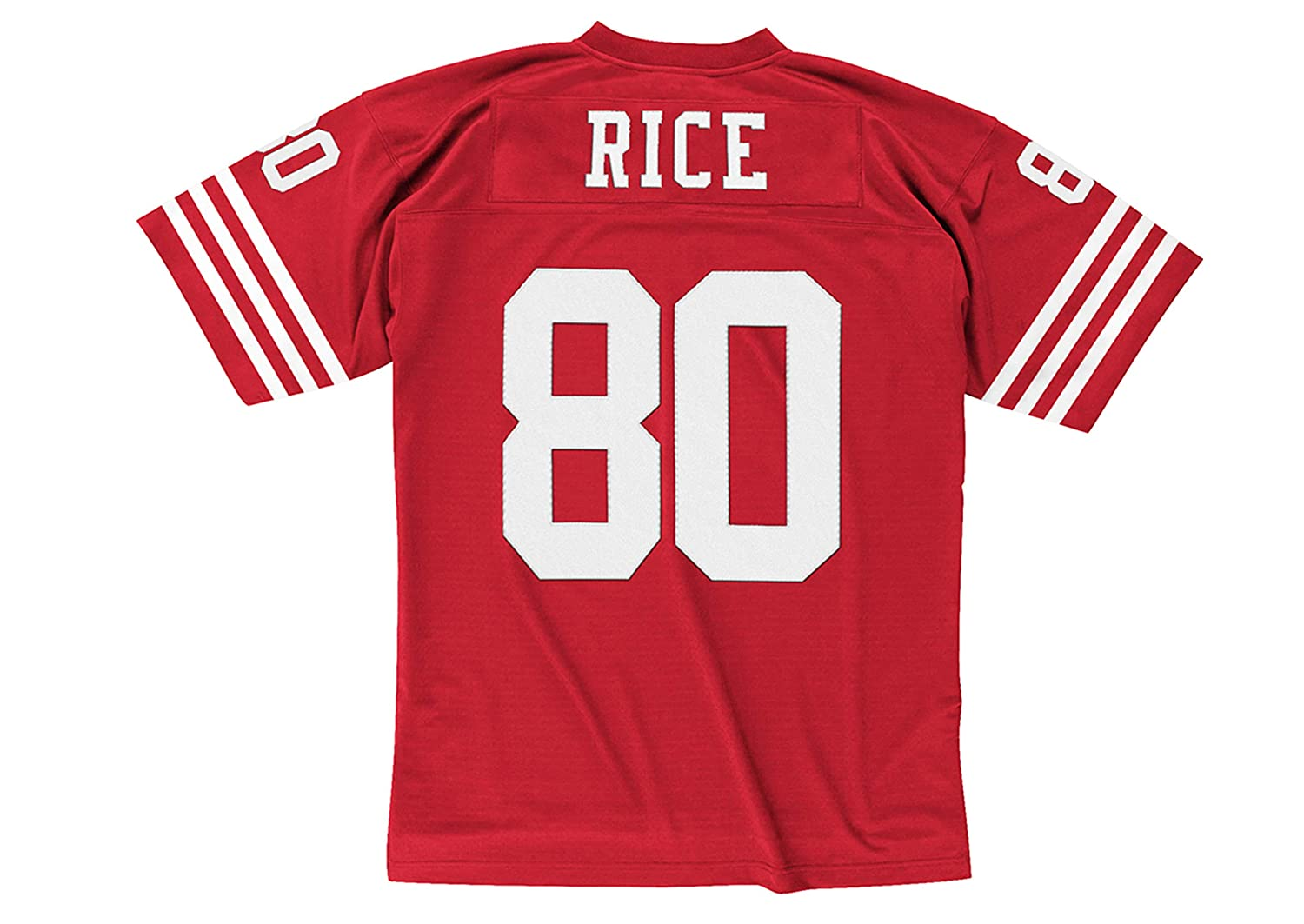 bce70c6db Amazon.com   San Francisco 49ers Mitchell   Ness 1990 Jerry Rice  80  Replica Throwback Jersey   Sports   Outdoors