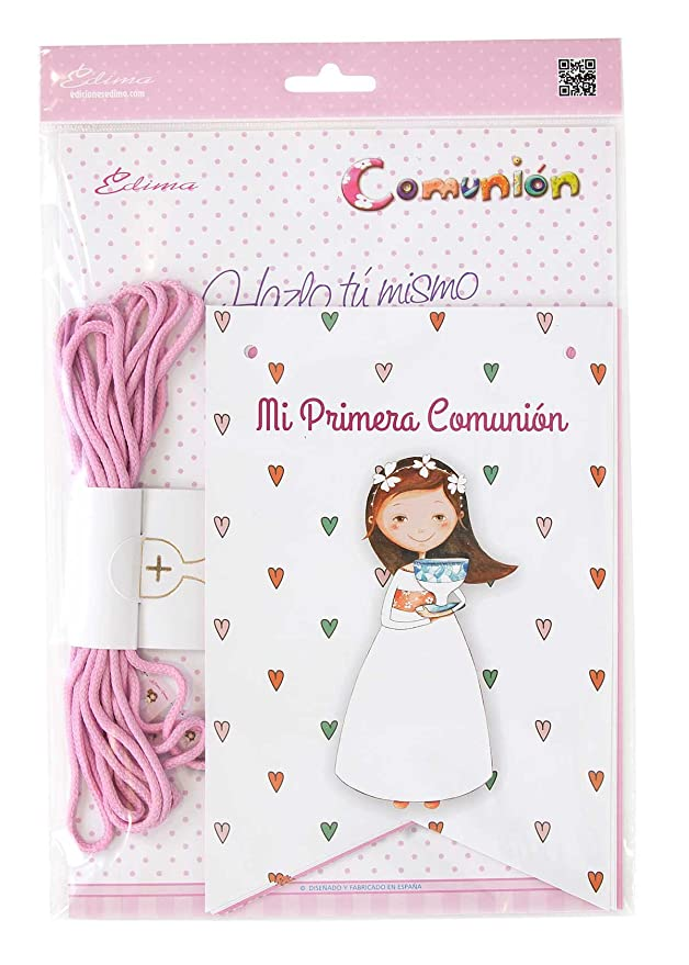 Amazon.com: Edima – Bag with Bunting My First Communion DIY ...