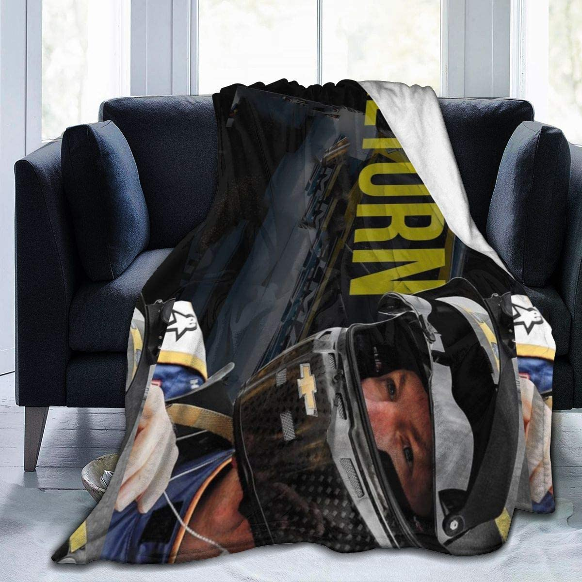 """Honghuawenhua Winter Super Soft Warm Dale Earnhardt Jr Thick FleeceThrow Blanket for Home 50""""x40"""""""