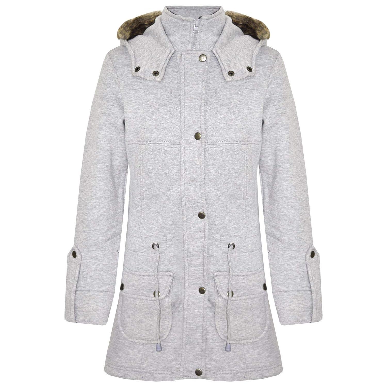 b568ccdff44 A2Z 4 Kids® Kids Girls Coat Fleece Parka Jacket Faux Fur Hooded Long  Fashion Winter Coats Age 5 6 7 8 9 10 11 12 13 Years