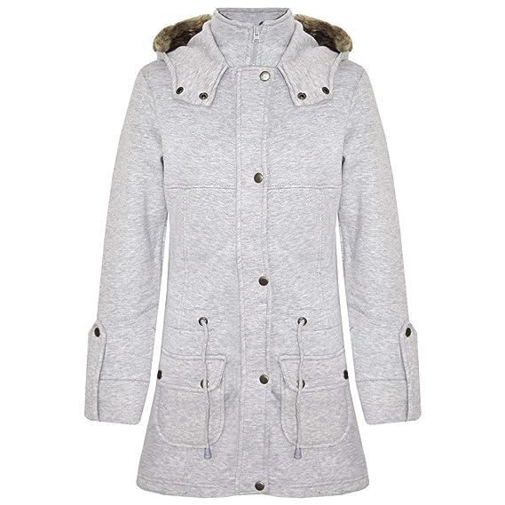 58c3bb35a85e A2Z 4 Kids® Kids Girls Coat Fleece Parka Jacket Faux Fur Hooded Long ...