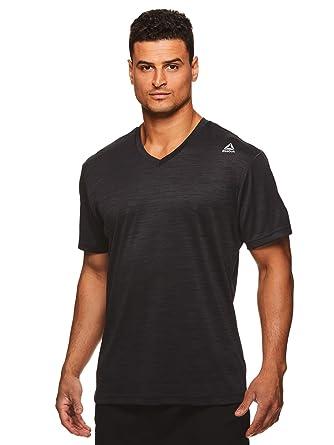 0cb261223b6893 Reebok Men's V-Neck Workout Tee - Short Sleeve Gym & Training Activewear T  Shirt