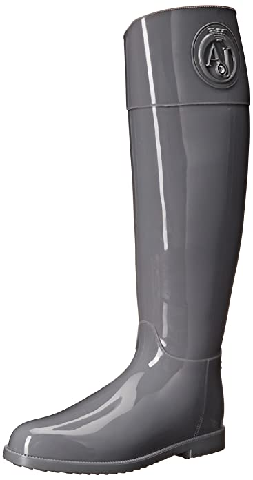 Amazon.com | Armani Jeans Women's AJ Tall Rain Boot | Rain Footwear