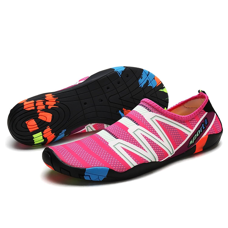 EMMMMMM Mens Womens Unisex Kids Summer Water Shoes Barefoot Shoe Quick Dry Aqua Socks Run Dive Surf Swim Beach Yoga B07CWCR85P 11.5 D(M) US|Granularpink