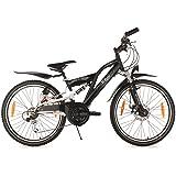 "Kids Bike 24"" B-Boy 18 Gear Black KS Cycling"
