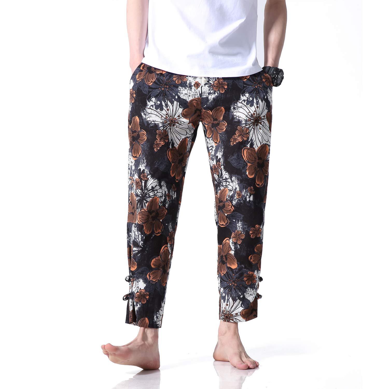 Zimaes-Men Mid Waist Casual Leisure Straight Washed Fashion Retro Pants