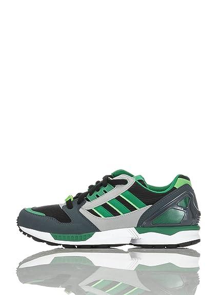 adidas Zapatillas ZX 8000 Negro/Verde/Gris EU 43 1/3: Amazon.es: Zapatos y complementos