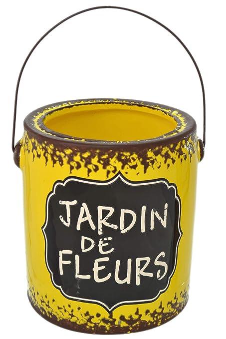 Amazon.com: Maceta de cerámica con diseño de flor de Jardin ...