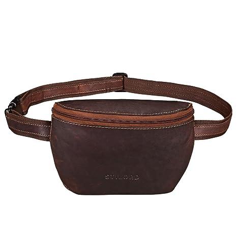 7546e338c0 STILORD 'Jules' Marsupio pelle piccolo vintage da uomo e donna borsa da  cintura per