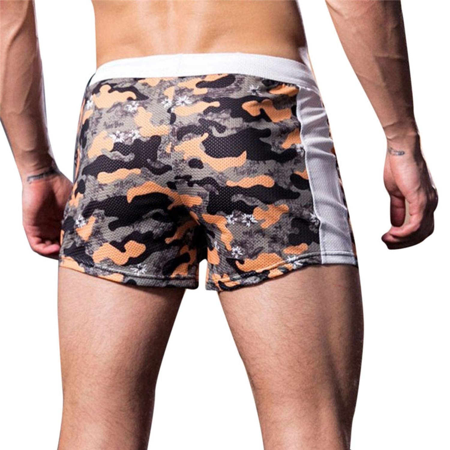 Summer Mens Shorts Leisure Camouflage Sports Shorts z0407,GN,XL,United States