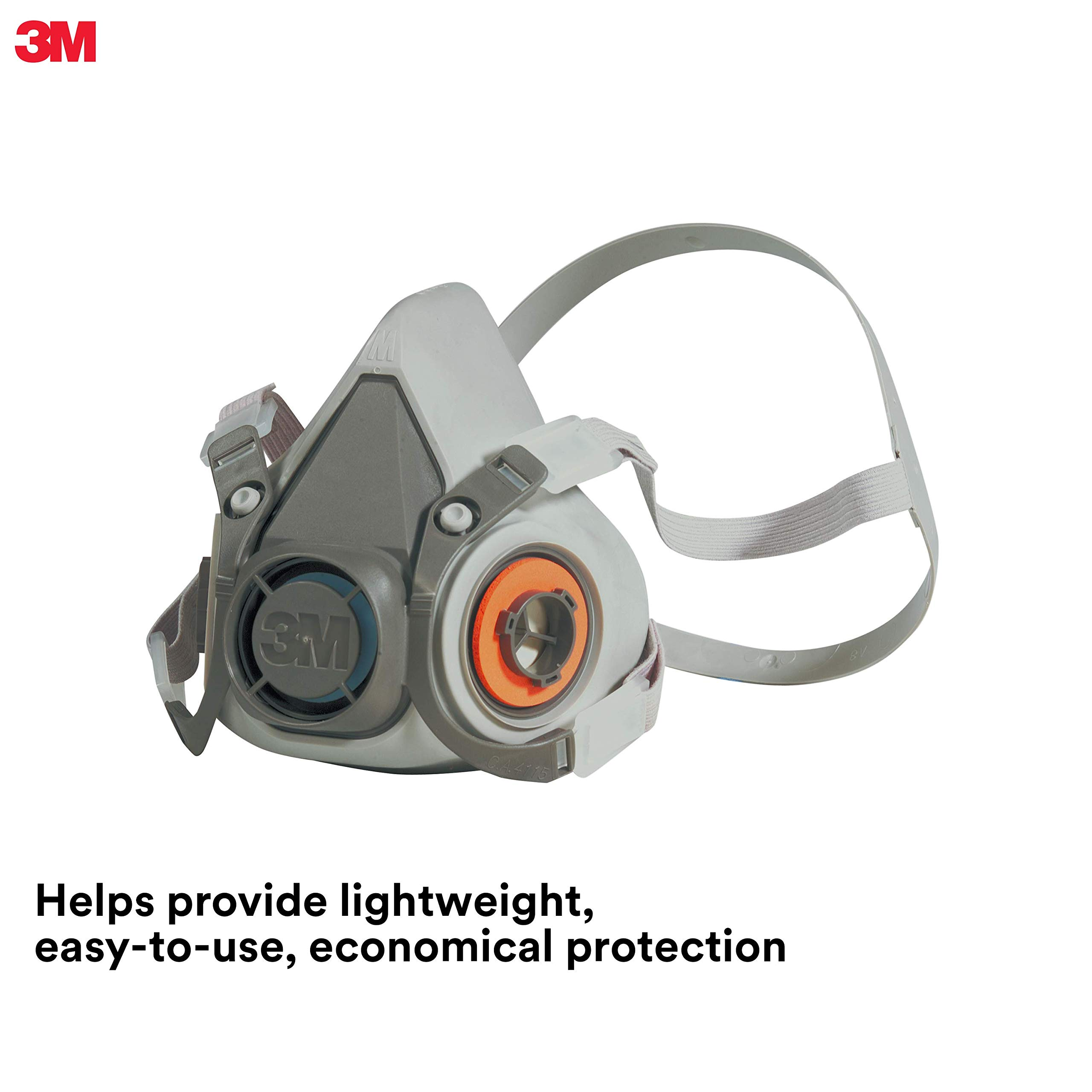 3M Half Facepiece Reusable Respirator 6200/07025(AAD), Respiratory Protection, Medium(Pack of 1) by 3M Personal Protective Equipment