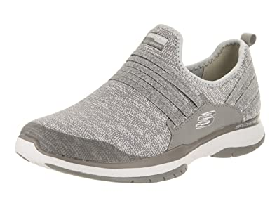 Skechers Burst TR Inside Out Womens Slip On Sneakers Gray 9 r0aegU