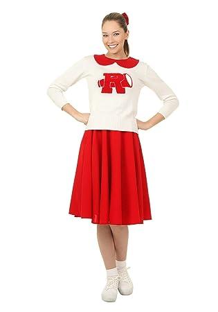 76bb67e0ba7e Grease Rydell High Plus Size Womens Cheerleader Fancy Dress Costume ...
