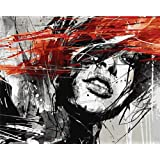 KOMI DIY Paint by Numbers for Adults, Paint by Number Kits on Canvas Painting Art Craft for Home Decoration, Black Dream Girl