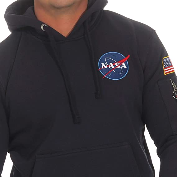 7e5d7e80c Alpha Industries NASA Space Shuttle OTH Hoodie | Rep Blue at Amazon Men's  Clothing store: