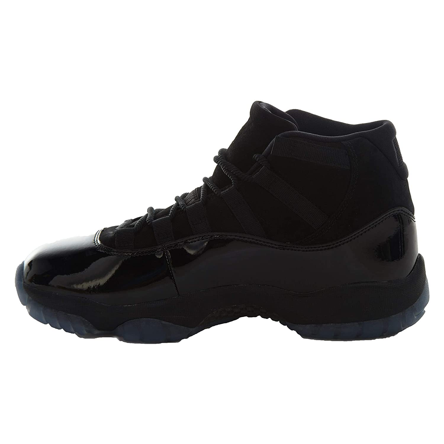 best service df1fe 8c007 Nike Mens Air Jordan 11 Retro Cap and Gown Black/Black-Black Suede Size 10