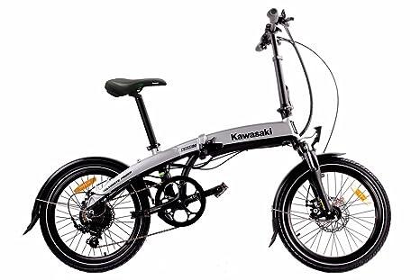 Bicicletta Pieghevole Kawasaki Folding Bike Alluminio.Kawasaki E Bike Bicicletta Pieghevole Amazon It Sport E Tempo Libero