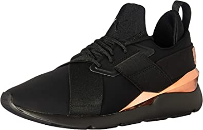 PUMA Women's Muse Wn's Sneaker, Black Rose Gold, 9 M US