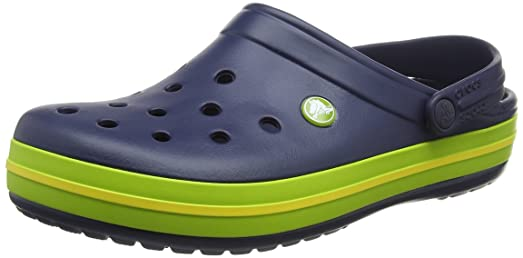 Crocband Shoe for Adults - Available in Many Colors! Size: 10 D(M) US Mens / 12 B(M) US Womens Color: Navy/Volt Green/Lemon