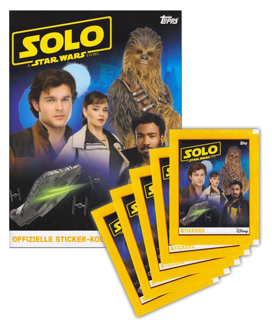 SOLO: A Star Wars Story Topps /álbum de Recortes /Pegatinas para Pegatinas coleccionables Edici/ón Alemana 5/Booster Paquetes 25/