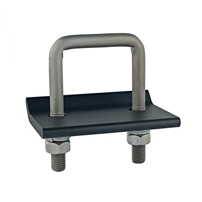 TOPTOW 64703 Trailer Hitch Tightener Anti Rattle Clamp for 1.25 Inch and 2 Inch Receiver Hitches, Aluminum Stabilizer Plate, No Wobble Hitch Clamp (Black): Automotive