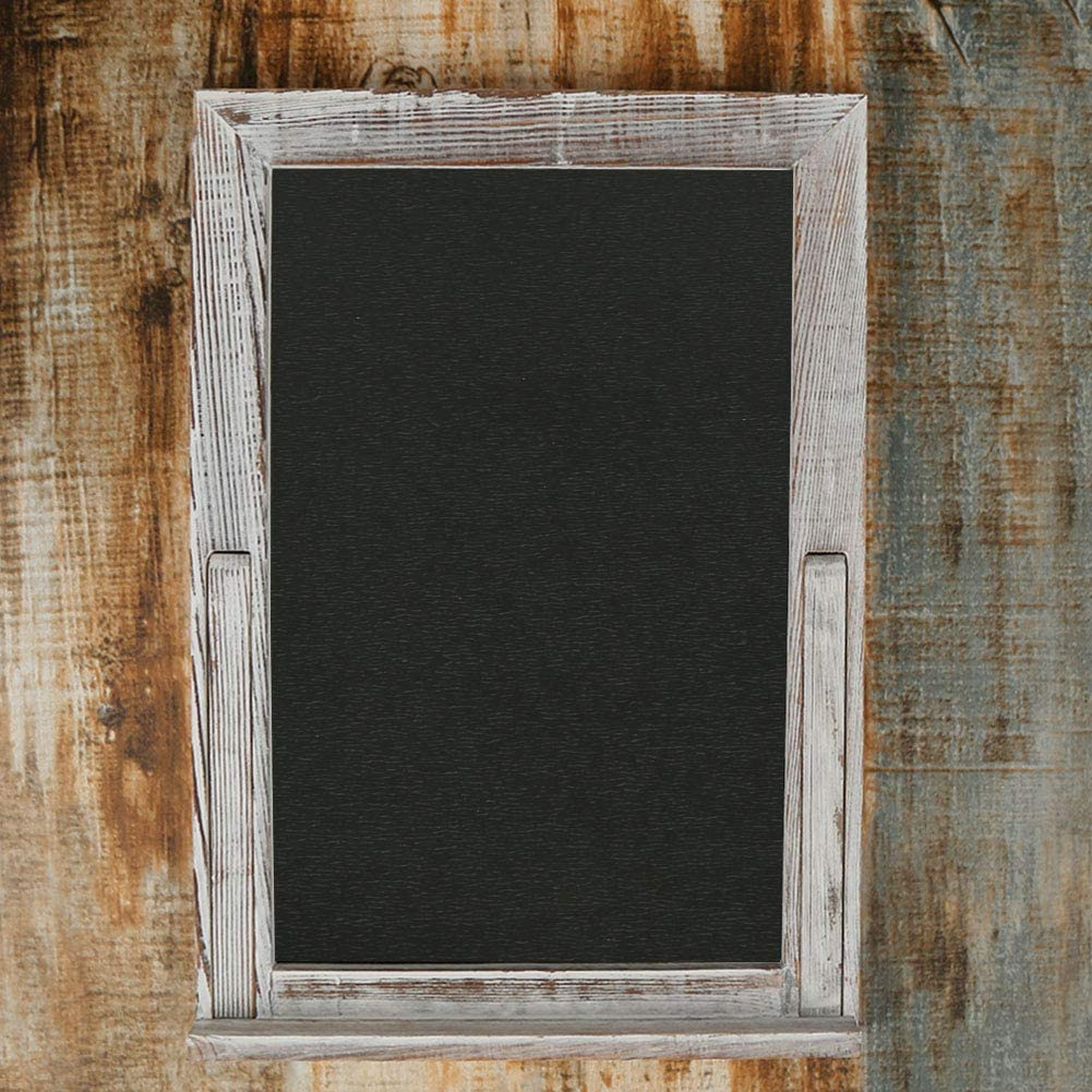BECTSBEFF 15 X 10.5 Wood Framed Tabletop Chalkboard Sign, Small Rustic Whitewash Wall Hanging Magnetic Chalkboard, Kitchen Menu Display Chalk Board Signs, Mini Countertop Memo Board for Wedding Décor: Home & Kitchen