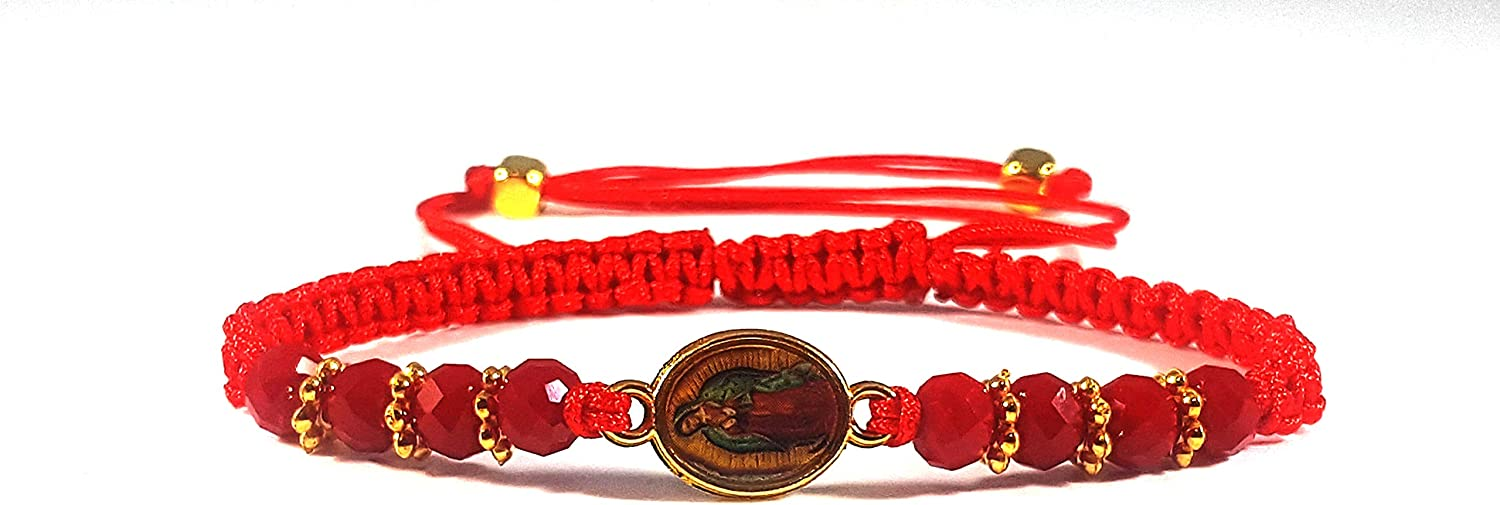 Virgin Mary Red String Red Bead Adjustable Bracelets Adults