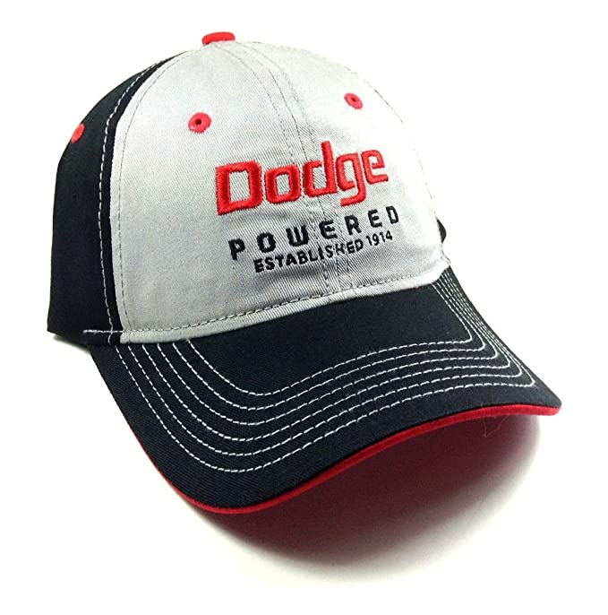 Amazon.com  Black   Grey Dodge Powered Adjustable Snapback Hat  Clothing 376d5226582