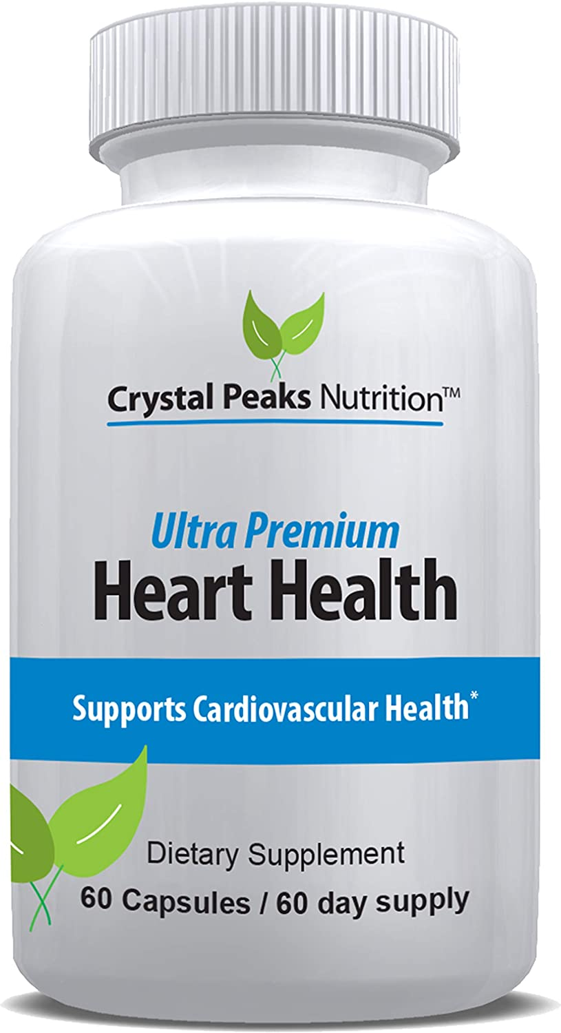 Heart Health Supplement with Vitamin K2 (mk-7) + D3 + Calcium | Lower Blood Pressure and Cholesterol while Cleansing Arteries of Plaque | Supports Cardiovascular health, Improved Circulation and Lower