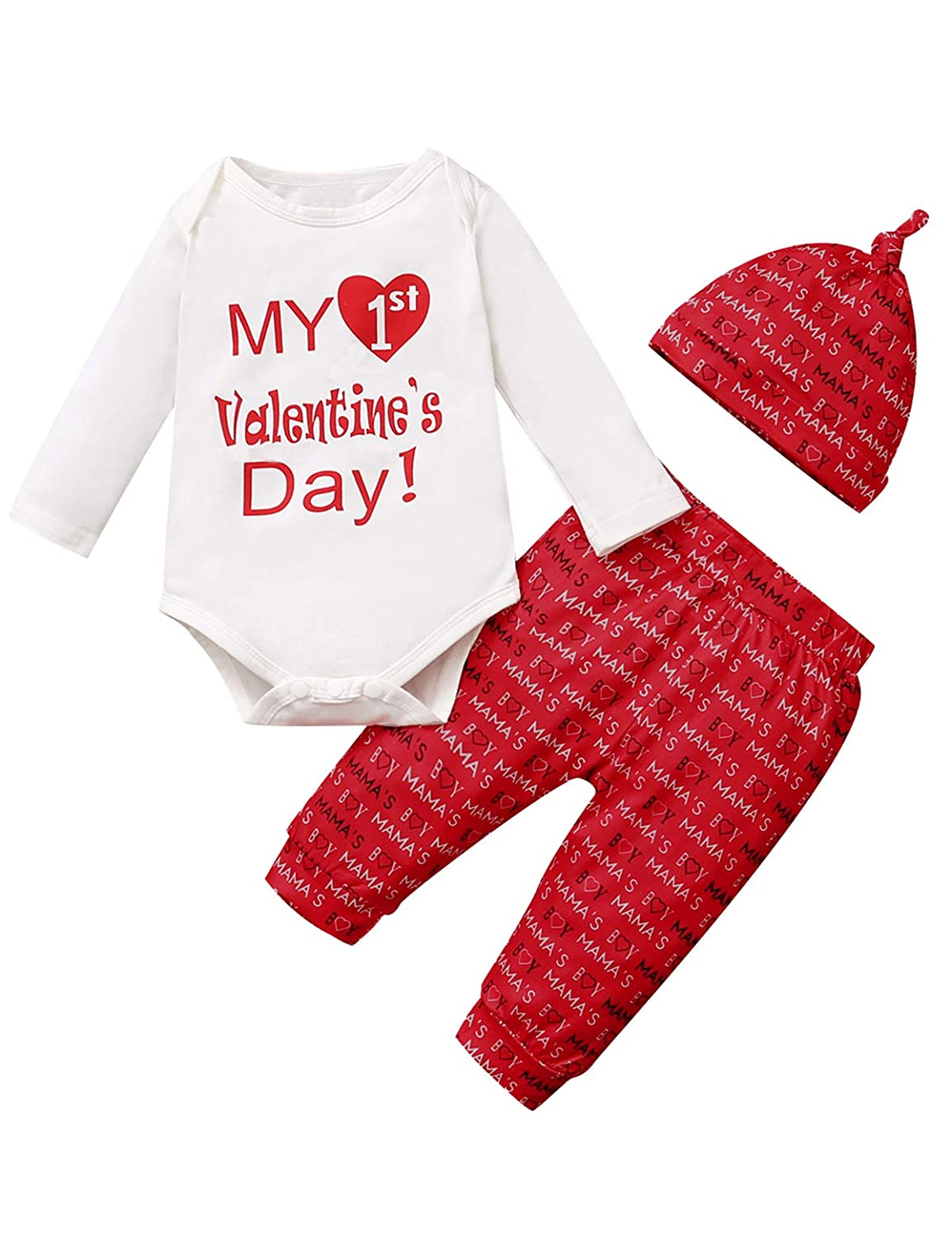 Baby Boys Girls Outfit Set My First Valentines Day Bodysuit