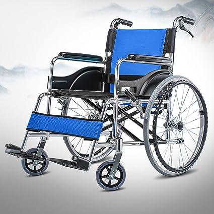 ZZHF silla de ruedas Silla de ruedas manual plegable de aluminio Handicapped handheld discapacitado mayor Hand