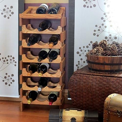 Wooden Mallet 21 Bottle Dakota Display Top Wine Rack