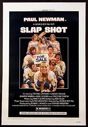 6c99507b972 SLAP SHOT PAUL NEWMAN ICE HOCKEY CLASSIC 1977 1-SHEET ON LINEN at Amazon s Entertainment  Collectibles Store