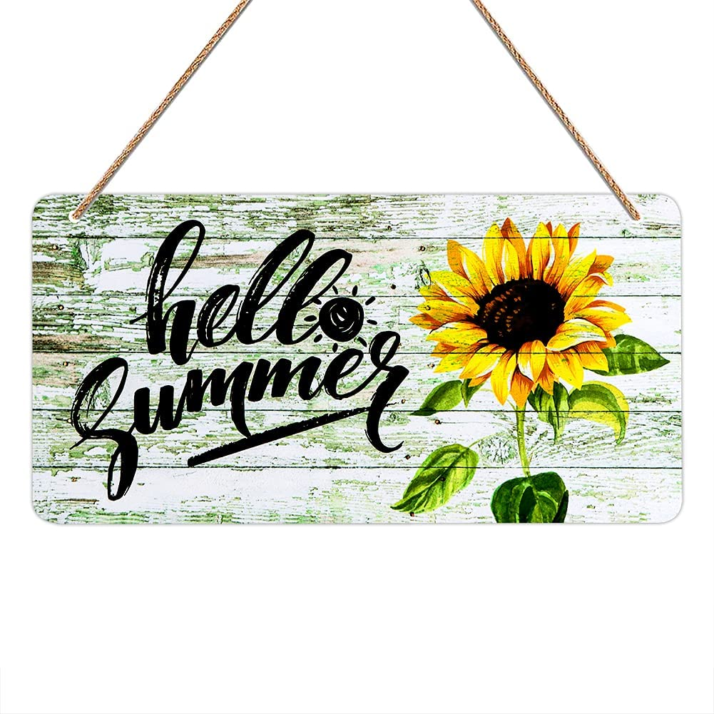 FaCraft Hello Summer Door Sign,6