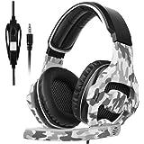 [SADES 2017 Multi-Plataforma Nueva Xbox One Gaming Headset de Juego PS4], SA810 Gaming Auriculares de Juego de Auriculares para Xbox One Nuevo / PS4 / PC/Laptop/Mac/iPad/iPod (Negro y Camuflaje)