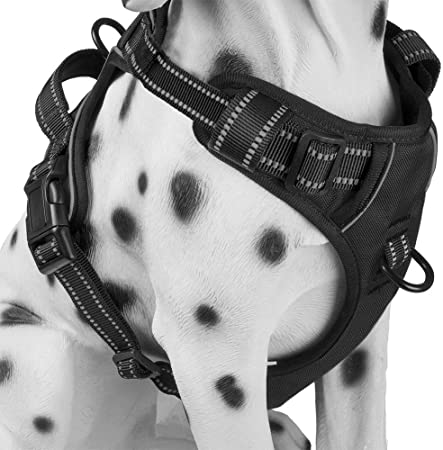 Poypet No Pull Dog Harness With Front Clip Comfortable Reflective Pet Vest Harness With Handle For Puppy Small Dog Black Xs Amazon Co Uk Kitchen Home