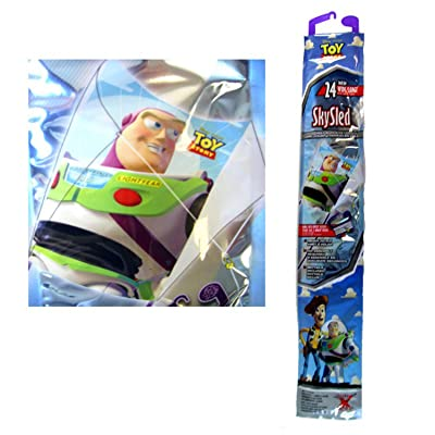 Disney Toy Story Buzz Lightyear Childrens SkySled Kite (24 Inch): Toys & Games