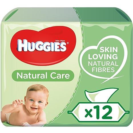 Huggies Natural Care Toallitas para Bebé - Paquetes de 12 x 56 toallitas - Total: