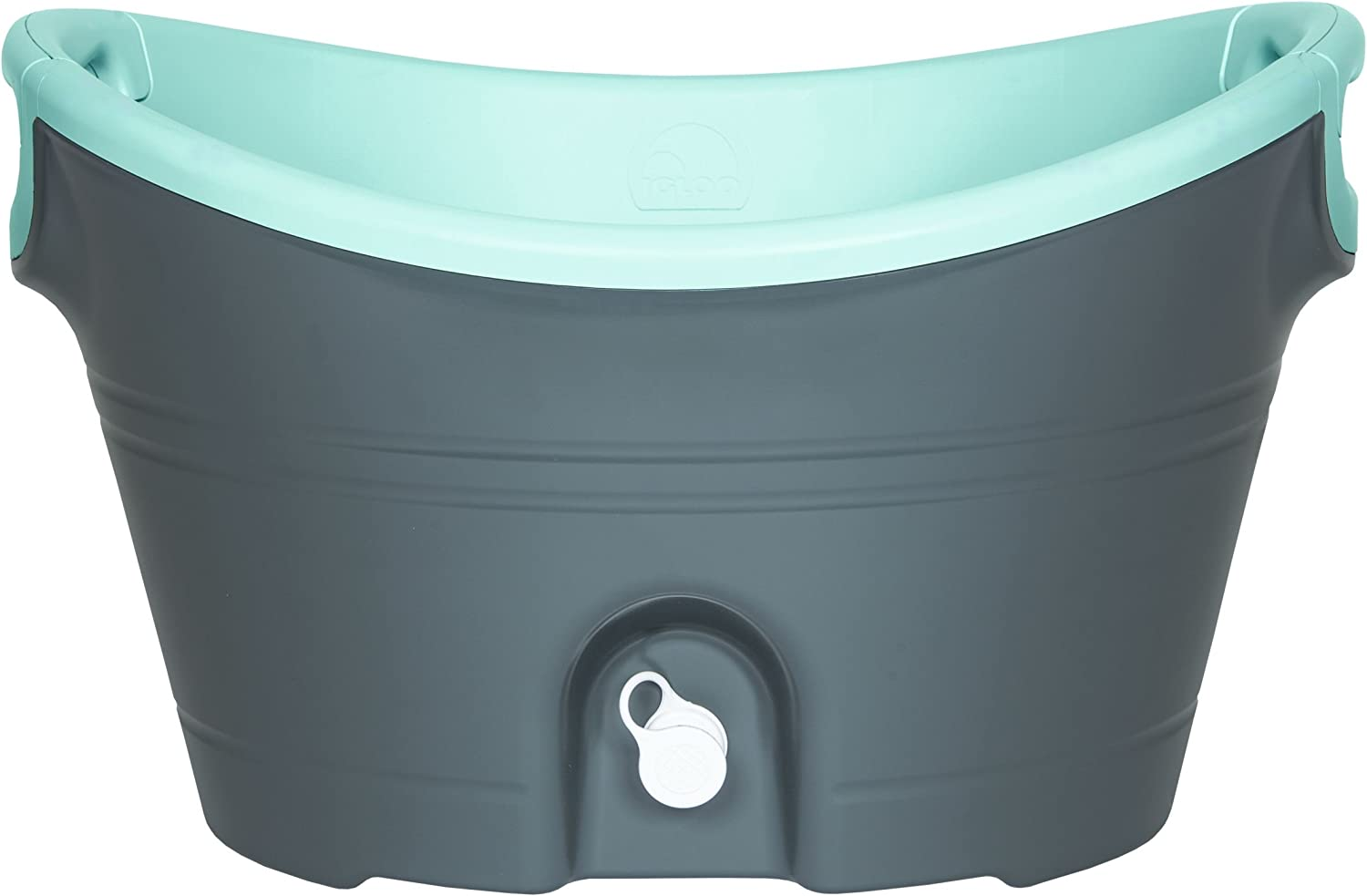 Igloo Insulated Party Bucket, 20 quart/18.9 L, Charcoal Seafoam Green/Translucent - 49638