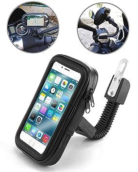 TecHERE BikeCase - Soporte Universal Movil Impermeable para Moto Motocicleta Scooter Escúter Vespa - Funda Teléfono Móvil para Apple iPhone Samsung ...
