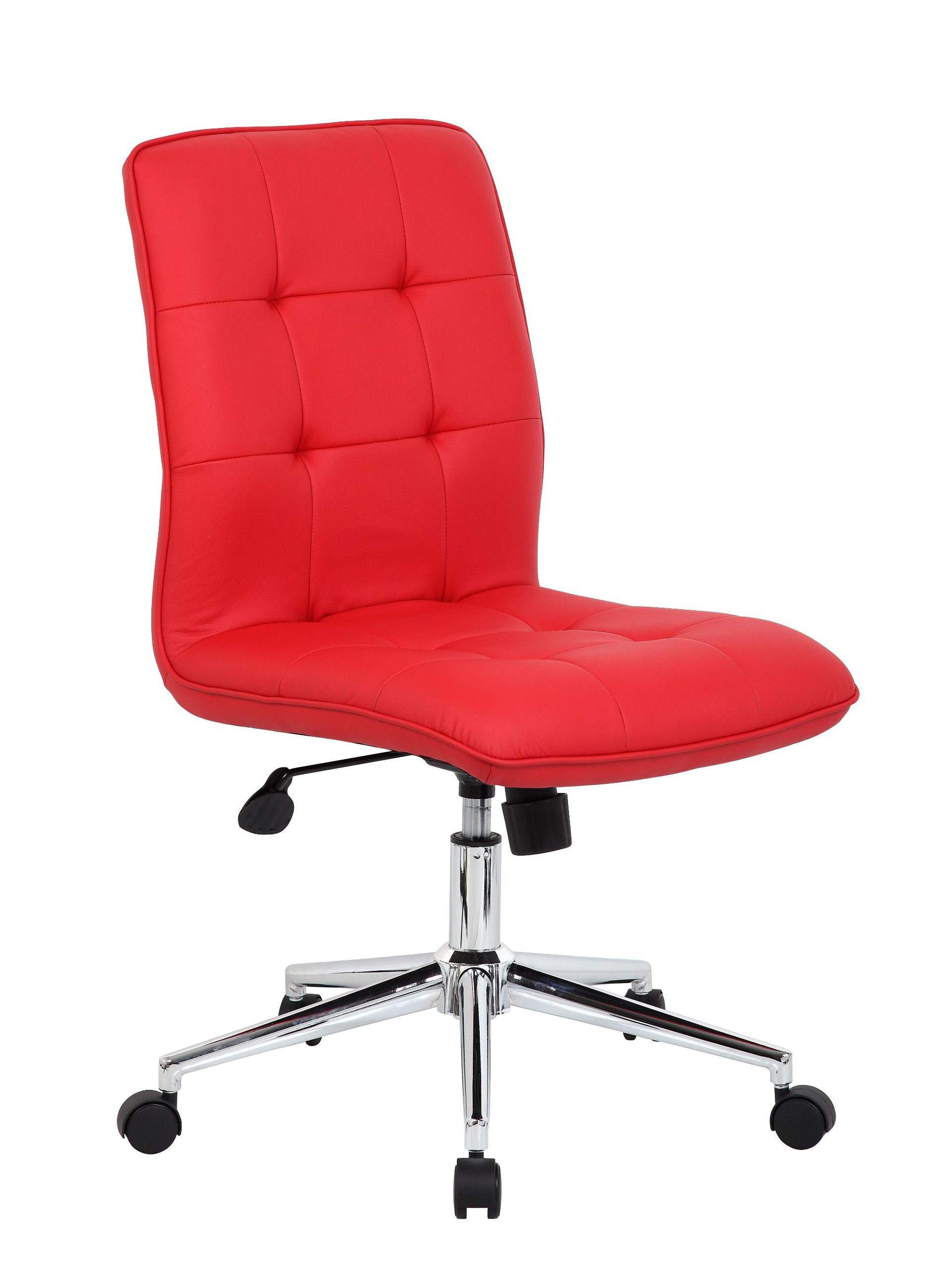 Boss Office Products B330-RD Mellennial Modern Home Office Chair without Arms in Red by Boss Office Products