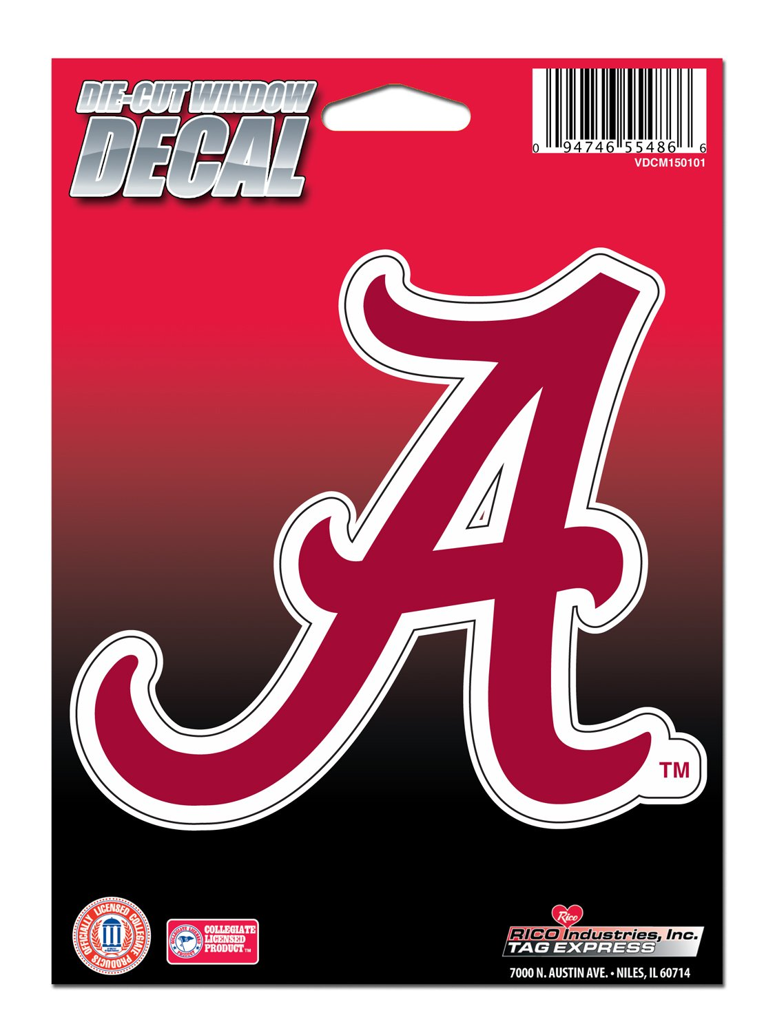 Amazoncom NCAA Alabama Crimson Tide Die Cut Vinyl Decal With - Die cut window decals
