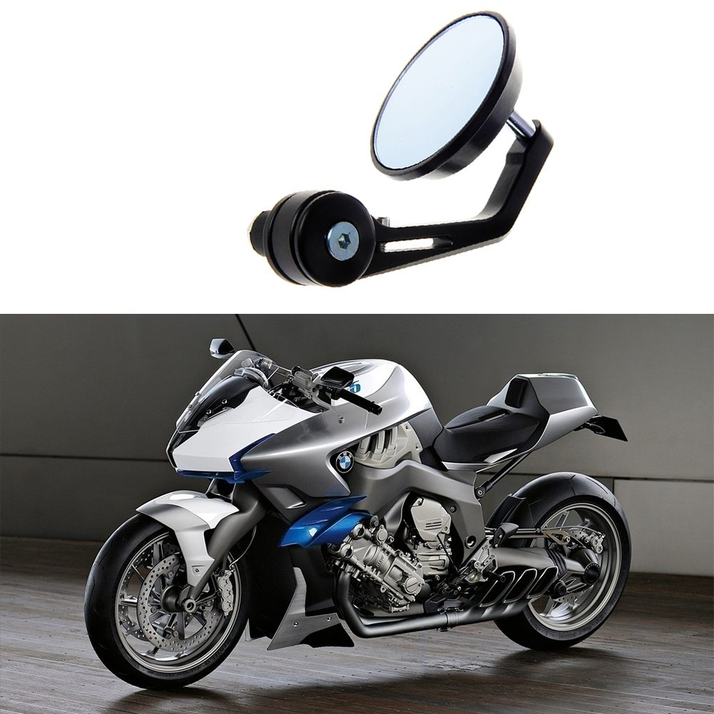 universale regolabile retrovisore moto specchietti laterali bricolage per moto scooter Woopower 22/mm Rear View Side Mirror Round bar End hawk-eye moto specchio convesso per 7//20,3/cm moto manubrio