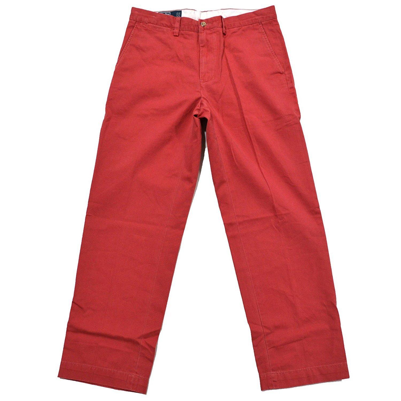 Polo Ralph Lauren Men's Slim Fit Flat Front Chino - 30W x 30L - Nantucket Red