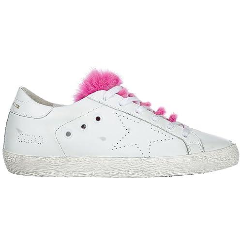 9195f2644be9e Golden Goose Scarpe Sneakers Donna in Pelle Nuove Superstar Bianco EU 39  G31WS590 D55  Amazon.it  Scarpe e borse