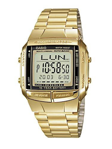 Casio Collection – Herren-Armbanduhr mit Digital-Display und Edelstahlarmband – DB-360GN-9AEF